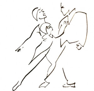 Draw of Tango couple